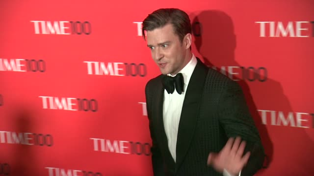 justin timberlake at 2013 time 100 gala arrivals at frederick p rose hall jazz at lincoln center on april 23 2013 in new york new york - justin timberlake stock-videos und b-roll-filmmaterial