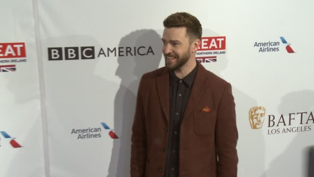 justin timberlake at 2017 bafta los angeles awards season tea party the four seasons los angeles at beverly hills in los angeles ca - justin timberlake stock-videos und b-roll-filmmaterial