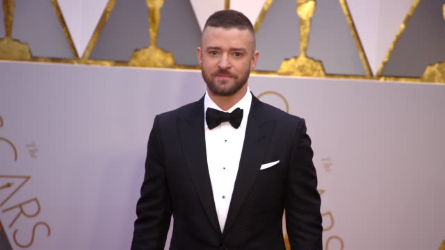 justin timberlake at 89th annual academy awards arrivals at hollywood highland center on february 26 2017 in hollywood california 4k - justin timberlake stock-videos und b-roll-filmmaterial