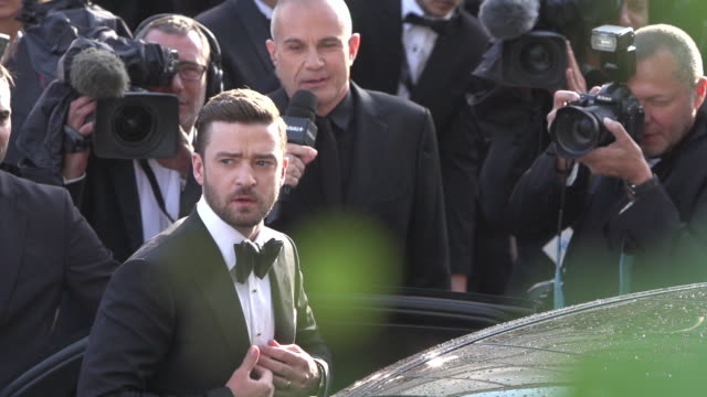slomo justin timberlake at 'cafe society' opening ceremony red carpet at palais des festivals on may 11 2016 in cannes france - justin timberlake stock videos & royalty-free footage