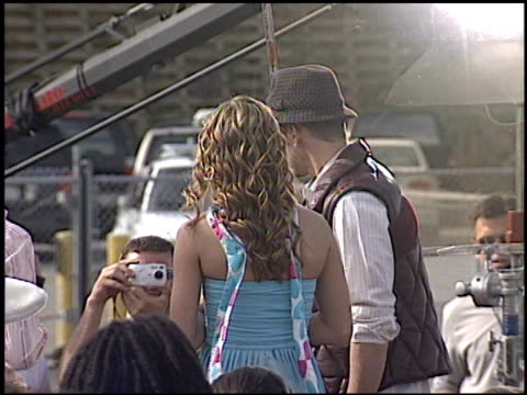 justin timberlake at the 2003 kids' choice awards at barker hanger in santa monica california on april 12 2003 - justin timberlake stock-videos und b-roll-filmmaterial