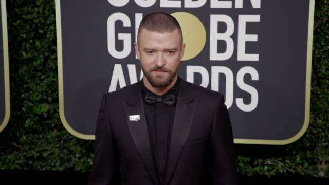 justin timberlake at the 75th annual golden globe awards at the beverly hilton hotel on january 07 2018 in beverly hills california - justin timberlake stock-videos und b-roll-filmmaterial