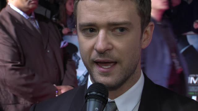 justin timberlake at the in time: uk premiere at london england. - justin timberlake stock videos & royalty-free footage