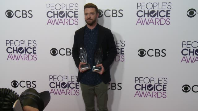 justin timberlake at the people's choice awards 2017 at microsoft theater on january 18 2017 in los angeles california - justin timberlake stock-videos und b-roll-filmmaterial