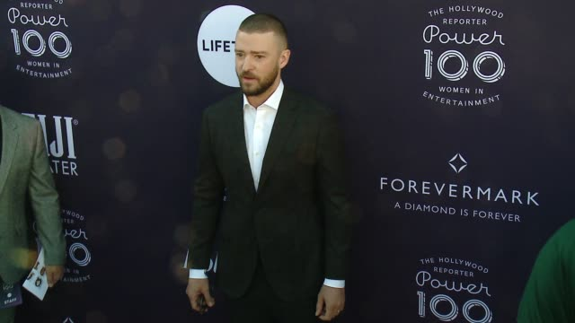 justin timberlake at the the hollywood reporter's 2017 women in entertainment breakfast at milk studios on december 6 2017 in hollywood california - justin timberlake stock-videos und b-roll-filmmaterial