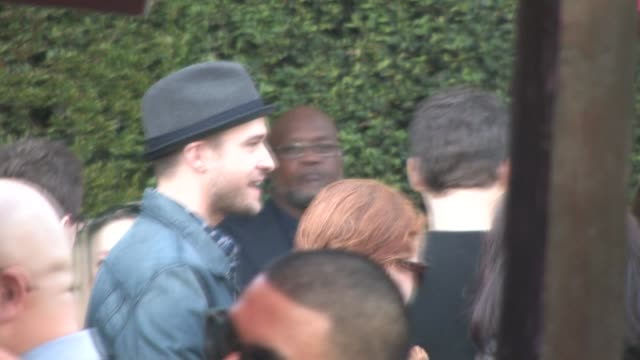justin timberlake at the yogi bear 3d premiere in westwood village in westwood at the celebrity sightings in los angeles at los angeles ca. - westwood village stock videos & royalty-free footage