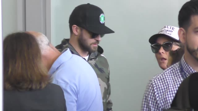 justin timberlake departing at lax airport in los angeles in celebrity sightings in los angeles - justin timberlake stock videos & royalty-free footage