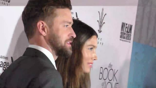 "justin timberlake & jessica biel at the ""the book of love"" los angeles premiere at pacific theatre at the grove on january 10, 2017 in los angeles,... - the grove los angeles stock videos & royalty-free footage"