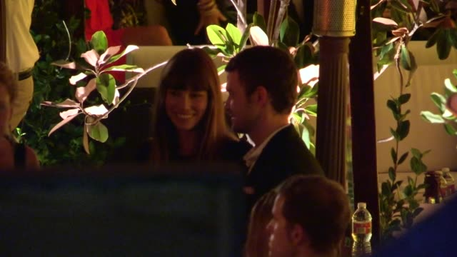 justin timberlake jessica biel depart trouble with the curve after party in westwood 09/19/12 - justin timberlake stock videos & royalty-free footage