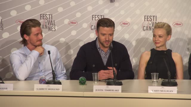 interview justin timberlake on how he appraoched his character country music at 'inside llewyn davis' press conference at palais des festivals on may... - justin timberlake stock-videos und b-roll-filmmaterial