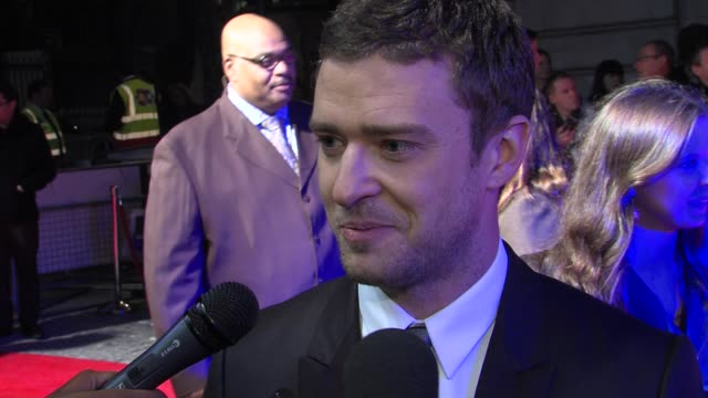 justin timberlake on what he would do if he had more time in london, george micheal at the in time: uk premiere at london england. - justin timberlake stock videos & royalty-free footage