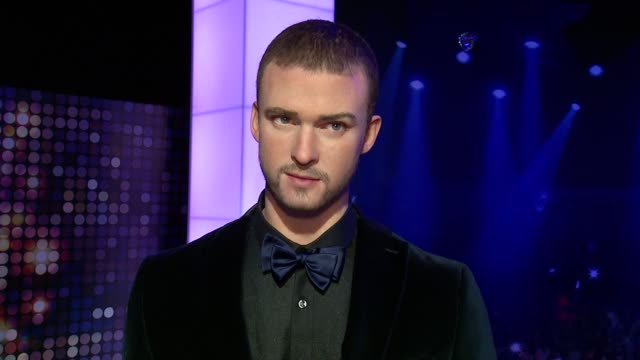 justin timberlake wax figure - adele wax figure unveiling at madame tussaud's at madame tussauds on february 19, 2014 in new york city. - madame tussauds stock videos & royalty-free footage