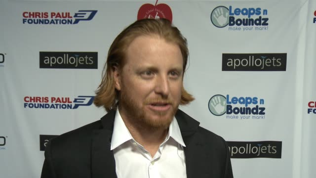 INTERVIEW Justin Turner on the event at The CP3 Foundation's Celebrity Server Dinner Hosted By Chris Paul in Los Angeles CA