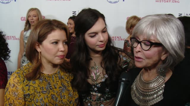 interview justina machado isabella gomez and rita moreno at women making history awards honoring kerry washington instagram coo marne levine spacex... - autorität stock-videos und b-roll-filmmaterial