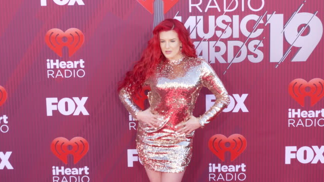 Justina Valentine at the 2019 iHeartRadio Music Awards at Microsoft Theater on March 14 2019 in Los Angeles California