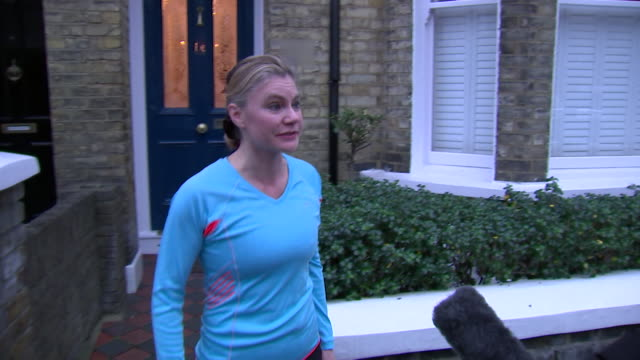 Justine Greening goes for a jog after resigning from Government