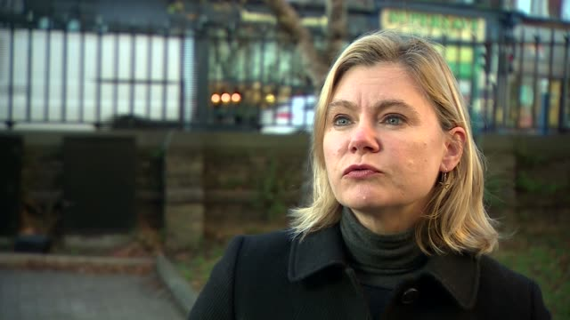 London EXT Justine Greening MP interview SOT