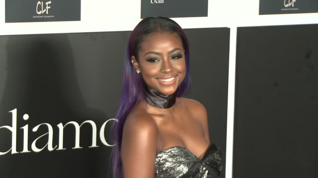 Justine Skye at the 2nd Annual Diamond Ball at Barker Hangar on December 10 2015 in Santa Monica California