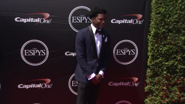 justise winslow at the 2015 espys at microsoft theater on july 15 2015 in los angeles california - microsoft theater los angeles stock videos and b-roll footage