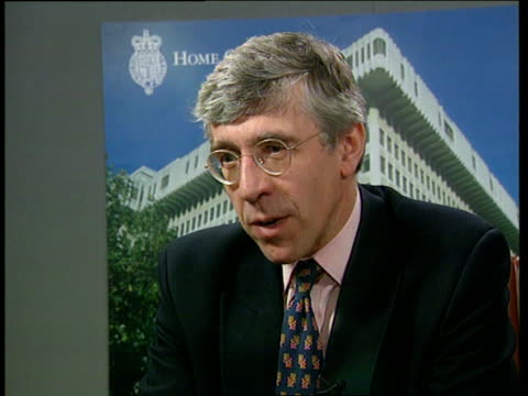 juvenille crime; itn london: home office: int jack straw mp intvwd - youth justice system is a shambles ???: consultation documents on tackling... - jack straw stock videos & royalty-free footage