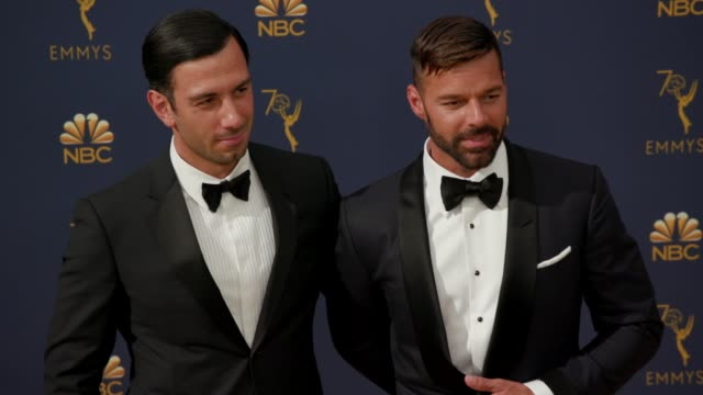 vídeos de stock, filmes e b-roll de jwan yosef and ricky martin at the 70th emmy awards arrivals at microsoft theater on september 17 2018 in los angeles california - 70th annual primetime emmy awards
