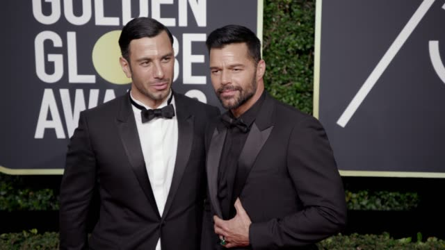 Jwan Yosef and Ricky Martin at the 75th Annual Golden Globe Awards at The Beverly Hilton Hotel on January 07 2018 in Beverly Hills California
