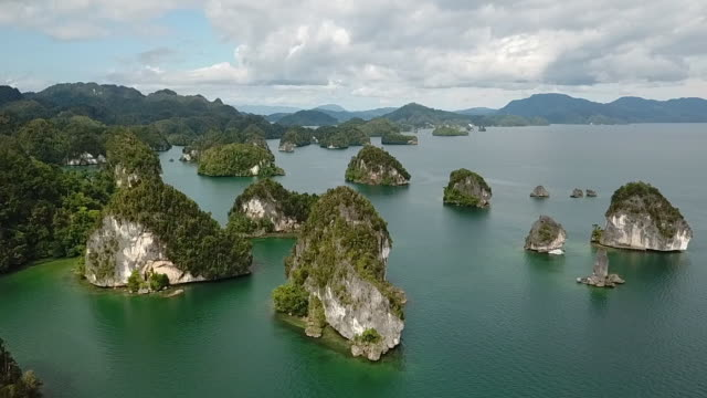 kabui bay, raja ampat papua. - papua stock videos and b-roll footage