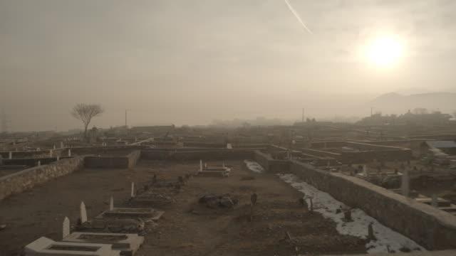 kabul cemetery - friedhof stock-videos und b-roll-filmmaterial