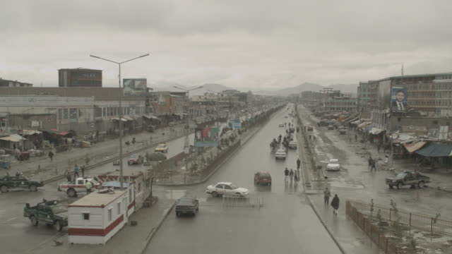 kabul city streets during elections 2014 - capital cities stock videos & royalty-free footage