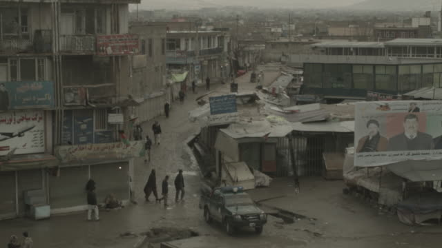 kabul city streets during elections 2014 - military exercise stock videos & royalty-free footage