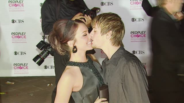 Kaci Brown and Aaron Carter at the 2007 People's Choice Awards arrivals at the Shrine Auditorium in Los Angeles California on January 9 2007