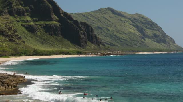 kaena point state park and keawaula beach in oahu hawaii usa - oahu stock videos & royalty-free footage