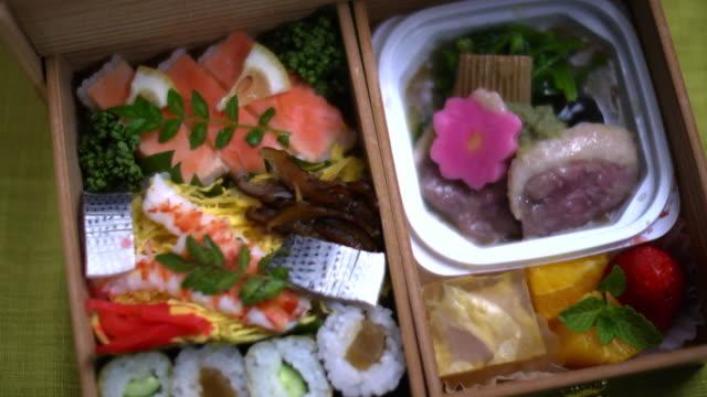 kaga nodate bento, railway boxed meal, japan - kanazawa stock videos and b-roll footage