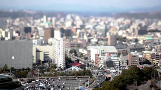 hd: kagoshima city städtisches motiv (video) - schrägansicht stock-videos und b-roll-filmmaterial
