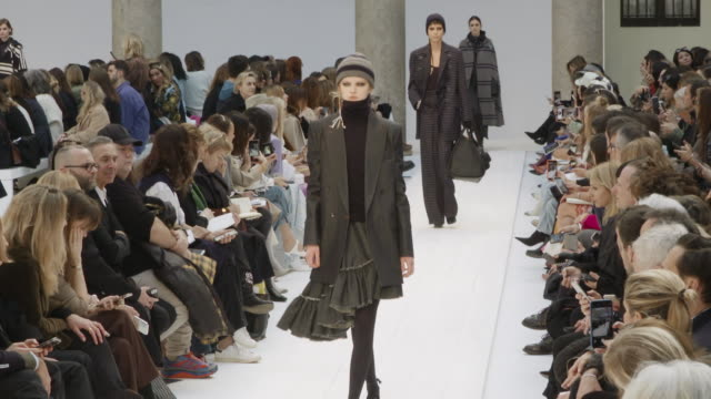 kaia gerber, bella hadid at milan fashion week women's fall / winter 2020 - 2021 - max mara on february 20, 2020 in milan, italy. - runway stock videos & royalty-free footage