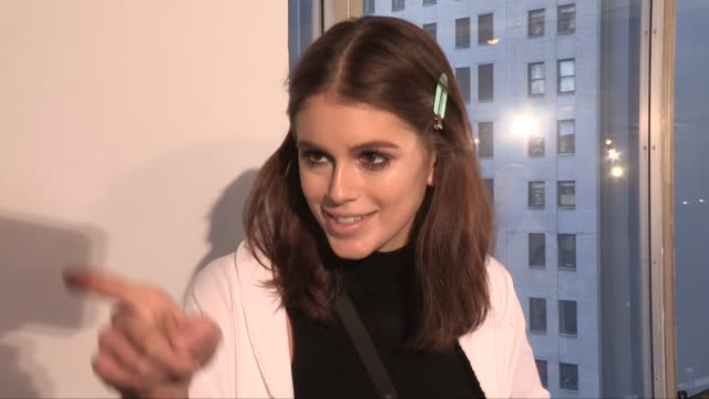Kaia Gerber getting ready backstage for the Longchamp Ready to Wear Fall Winter 2019 Fashion Show in New York City Saturday 9th February 2019 New...