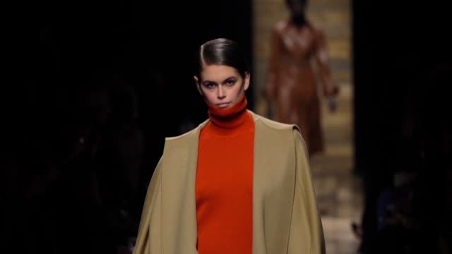 kaia gerber walks the runway at the michael kors fashion show at new york stock exchange on february 12, 2020 in new york city. - fashion show stock videos & royalty-free footage
