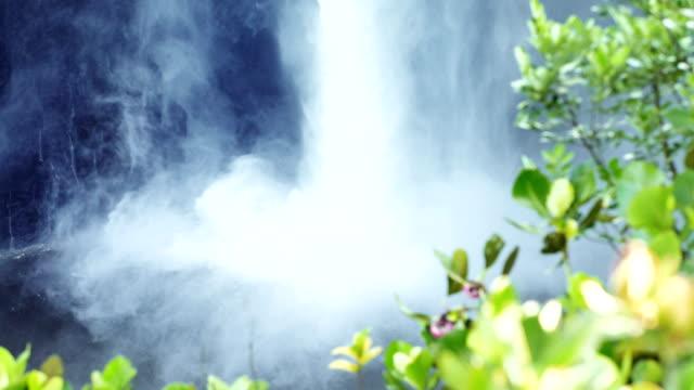 kaieteur waterfall on the potaro river. close up on foamed water. guyana landmark - guyana stock videos & royalty-free footage