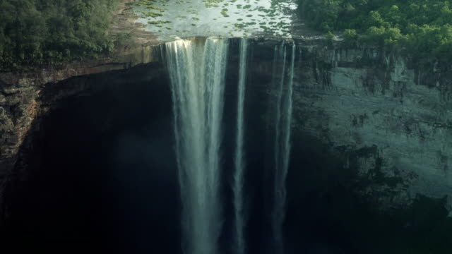 Kaieteur Waterfall on the Potaro River. Guyana landmark. Close view