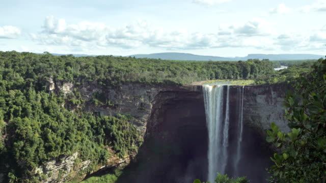 kaieteur waterfall on the potaro river. guyana landmark - guyana stock videos & royalty-free footage