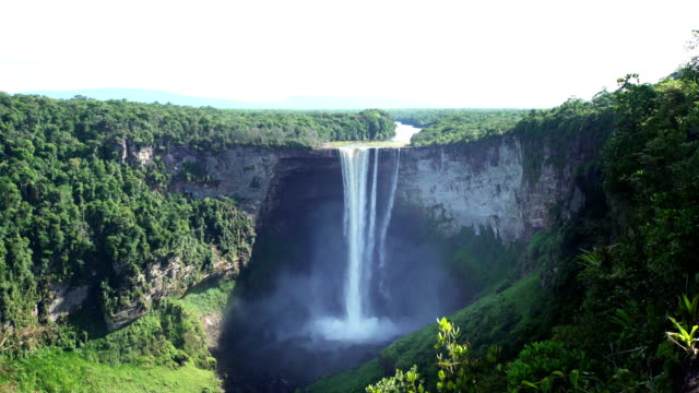 kaieteur waterfall on the potaro river. guyana landmark - amazon region stock videos & royalty-free footage