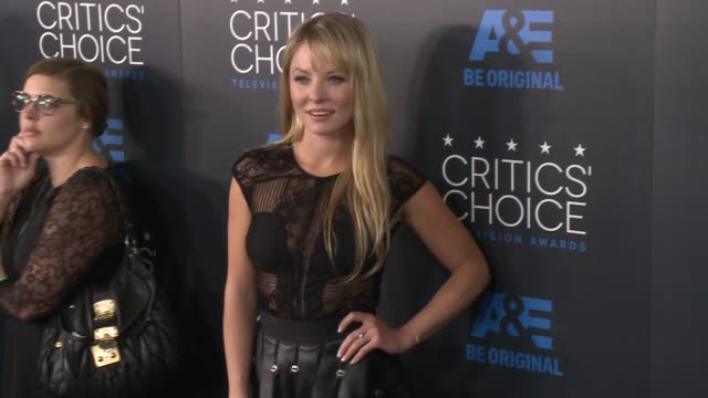 kaitlin doubleday at the 2015 critics' choice television awards at the beverly hilton hotel on may 31, 2015 in beverly hills, california. - 放送テレビ批評家協会賞点の映像素材/bロール