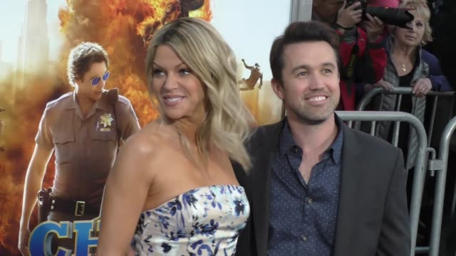 "kaitlin olson & rob mcelhenney at the ""chips"" los angeles premiere at tcl chinese theatre on march 20, 2017 in hollywood, california. - tcl chinese theatre stock videos & royalty-free footage"