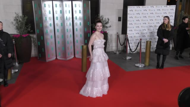 kaitlyn dever attends the ee british academy film awards 2020 after party at the grosvenor house hotel on february 02 2020 in london england - british academy film awards stock videos & royalty-free footage