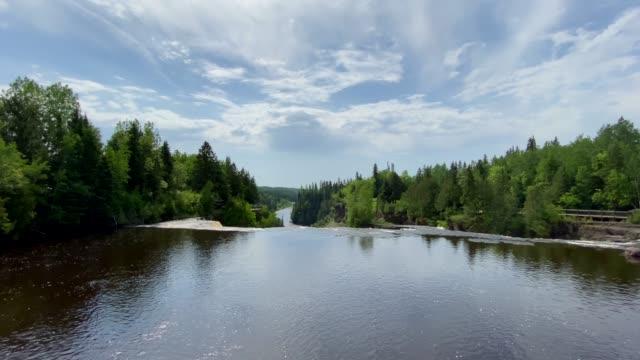 kakabeka falls provincial park, ontario, canada - ontario canada stock videos & royalty-free footage
