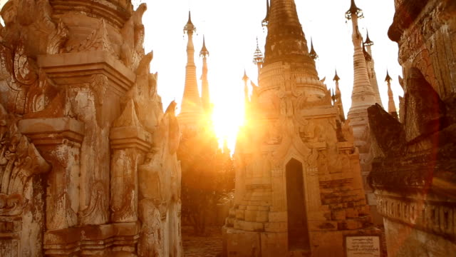 Kakku Pagodas Sunset in Myanmar