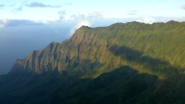 kalalau valley lookout on kauai - na pali coast state park stock videos & royalty-free footage