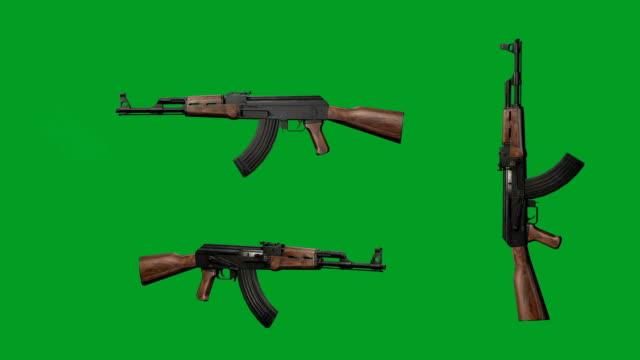 stockvideo's en b-roll-footage met ak-47 kalashnikov - geweer