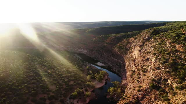kalbarri western australia - drone 4k - nature reserve stock videos & royalty-free footage