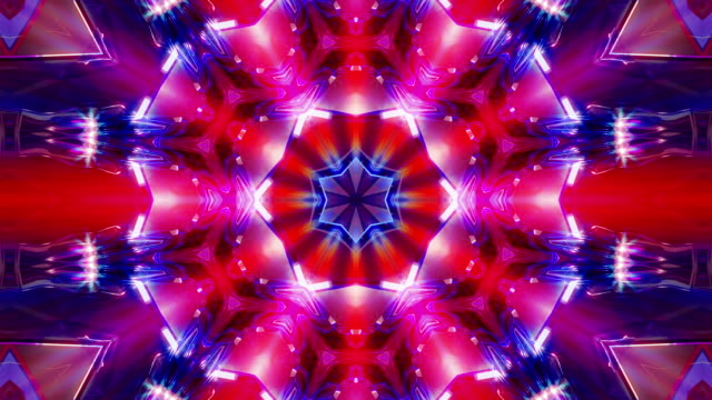 kaleidoscope 4k loop - techno music stock videos & royalty-free footage